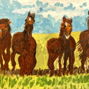 Geri L. Ancient Horses 18 x 24_0833
